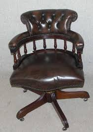Leather Office Armchair Antiques Atlas Brown Leather Captains Revolving Office Chair