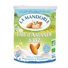 poudre de riz cuisine lait d amande riz la mandorle lait végétal riz et amande bio