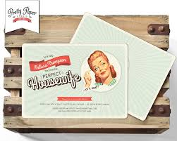 50s housewife bridal shower invitation retro 1950s