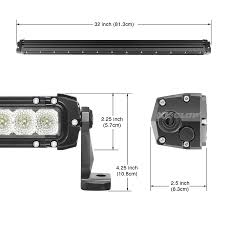 30 inch led light bar 30 inch 150w led light bar spot flood combo 12 840 lumens cree led