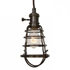 Caged Pendant Light Stylish Globe Electric 1 Light 7 In Oil Rubbed Bronze And Black