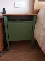 Ikea Hurdal Bed Ikea Hurdal Bedside Table In Green Pine Perfect Condition