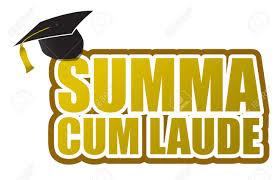 graduation sign summa laude graduation sign illustration design royalty free