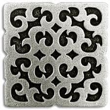 decorative tile inserts kitchen backsplash mosque 2x2 inch pewter tile metal tile accent tiles decorative