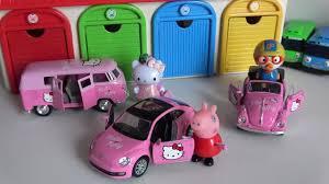 kitty car toys peppa pig pororo garage cars tayo toy