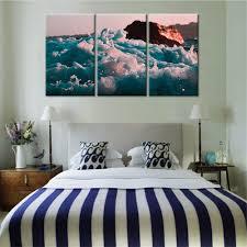 aliexpress com buy fashion seaside waves 3 pieces sets canvas