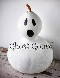 violet u0027s buds painted gourd ghost