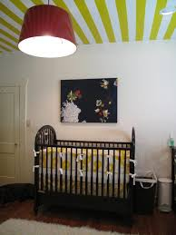Black And Yellow Crib Bedding Striped Nursery Transitional Nursery Sherwin Williams