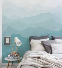 wallpaper by simple shapes temporary wallpaper mountain mural wall art