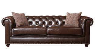 Tufted Leather Chesterfield Sofa by Darby Home Co Lizzie Leather Chesterfield Sofa U0026 Reviews Wayfair
