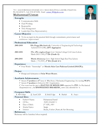 Sample Resume For Ojt Mechanical by Resume Format Engineering Atchafalaya Co