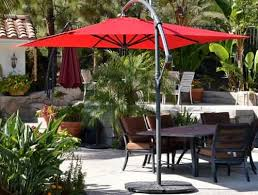 Patio Umbrella Wedge Offset Patio Umbrella 10 Squarequality Patio Umbrellas