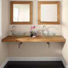 natural edge teak wall mount vanity top for vessel sinks bathroom