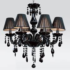 free shipping european black candle crystal chandeliers 6 lights