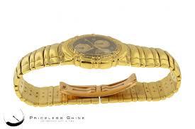piaget tanagra piaget tanagra solid 18k yg 148 8gr chrono w custom diamond