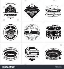 sports car logos car logos retro style vevtor labels stock vector 559192621