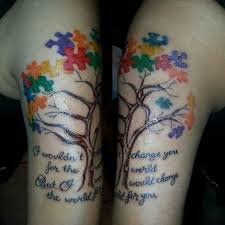 image result for autism tattoos back autism