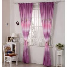 Pink And Purple Curtains Pink Purple Poly Cotton Decorative Maple Leaf Curtains