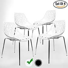 4 Dining Chairs Modern Dining Chairs Set Of 4 By Urbanmod White