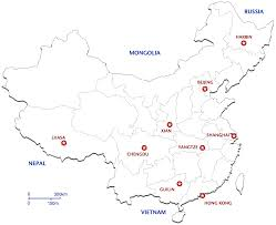 Harbin China Map by China Map And Destinations Tstc