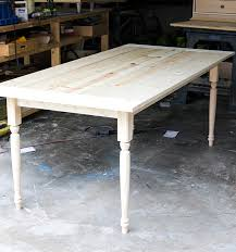How To Build A Trestle Table How To Build A Rustic Farmhouse Dining Table The Home Depot Blog