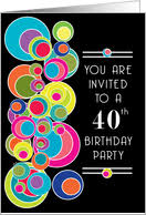 40th birthday invitations by greeting card universe