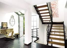 Small Staircase Design Ideas Excellent Two Levels Open Staircase With Wooden Materials And Dark