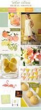 inspiration board retro citrus bridal shower fabric garland