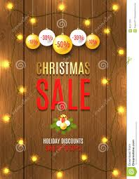 christmas lights on sale christmas sale vector flyer with christmas lights stock vector