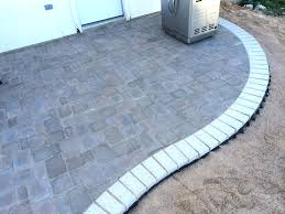 Paver Patio Diy Concrete Patio Pavers How To Build A Kidney Bean Shaped