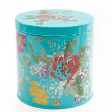 Tin Kitchen Canisters The Pioneer Woman Country Garden 3 Piece Canister Set Walmart Com