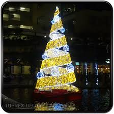 Large Outdoor Metal Christmas Decorations giant outdoor commercial lighted metal spiral rope light christmas