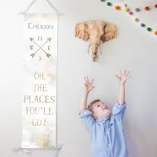 Gender Neutral Gifts by Custom Personalized Oh The Places You U0027ll Go Canvas Growth