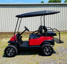Club Car Precedent Refurb Red Lifted U2013 Augusta Golf Cars Llc
