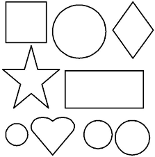 house tree shapes shape shapes coloring pages toddlers