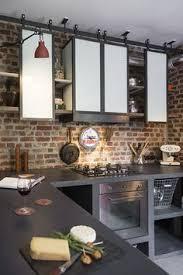 cuisine style indus étagères de cuisine de style indus en acier conception et
