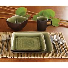 Ty Pennington Bar by Ty Pennington Style Square Lemongrass 16pc Dinnerware Set