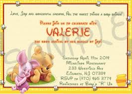 winnie the pooh baby shower invitations winnie the pooh baby shower invitation etsy sle invitations