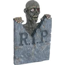 halloween animated zombie tombstone prop zombieplace com