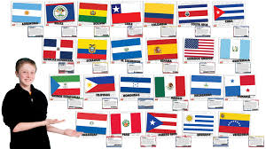The Spain Flag Flags Of Spanish Speaking Countries Bulletin Board Set 2015