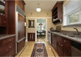 small corridor kitchen design ideas how to yellow cupboard in a