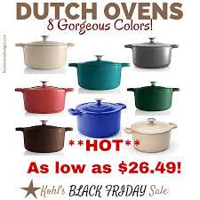 best kohls black friday deals kohl u0027s black friday deal 5 5 qt cast iron dutch oven for as low