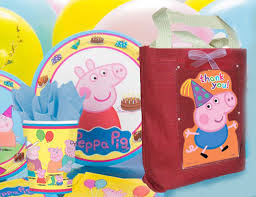 peppa pig birthday supplies peppa pig birthday party favor bag canvas fabric cloth tote for