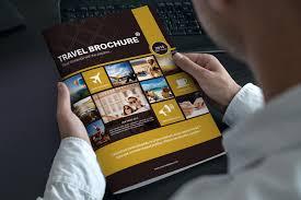 travel brochure template a4 bi fold on behance