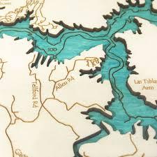 Namekagon River Map Lake Nacimiento Ca Single Depth Nautical Wood Chart 8