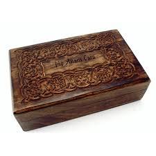 keepsake box wood keepsake box w celtic design 8 by 5 inches the catholic