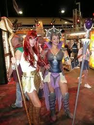 Teela And Evil Lyn - fantastic evil lyn from he man cosplay evil lyn cosplay
