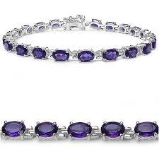 bracelet silver tennis images 945 ct genuine amethyst tennis bracelet jpg