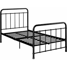 white metal twin headboard dhp brooklyn iron bed black multiple sizes walmart com