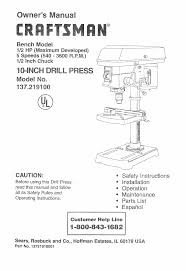 craftsman 137 219100 user manual 23 pages